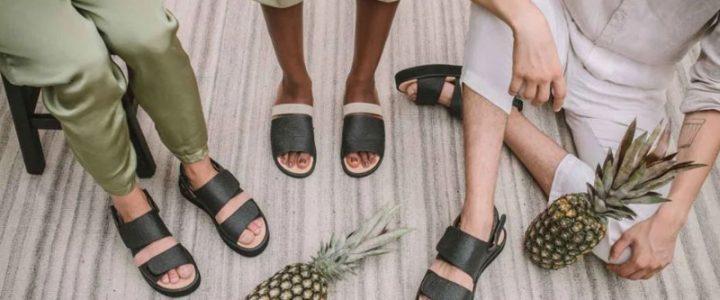 sapatos de abacaxi